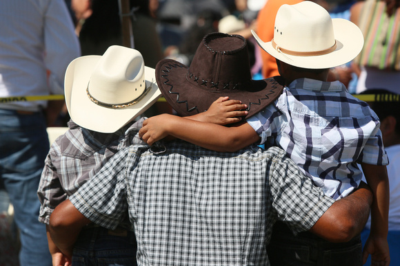 Cowboys of different ages came to see the rodeo.