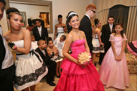 A Sweet 16 party for Glorimer Ovalle. Garfield, NJ